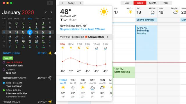 macOS必备软件之高颜值日历「Fantastical」 Mac软件教程 第2张