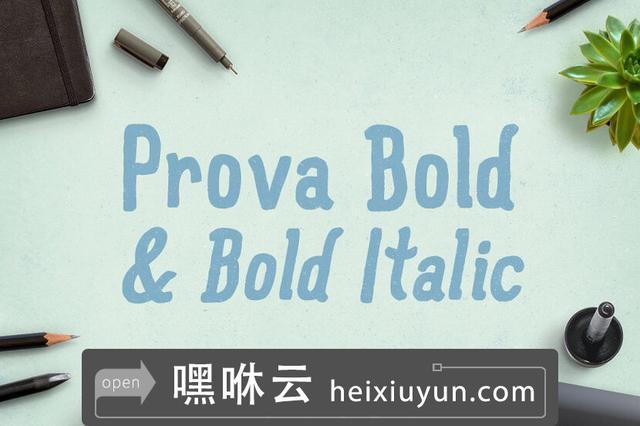 嘿咻云-小清新酒吧封面Prova Bold -amp; Bold Italic #498722