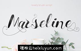 粗犷的手写字体 Marseline Script Font #727543