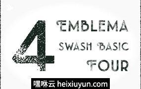 白色英文封面Emblema Headline Swash #119472