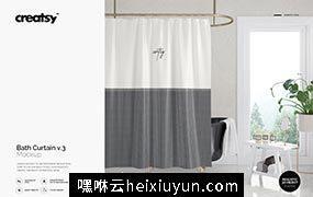 窗帘图案花纹纹样设计Bath Curtain #2437579