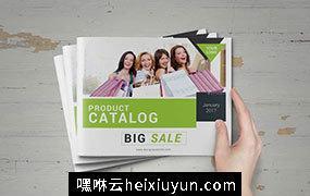 时尚极简的购物服饰指南杂志模板 Product_Promotion_Catalog_18507752