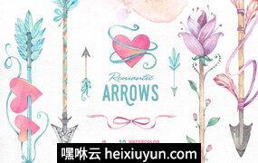 Romantic Arrows watercolor