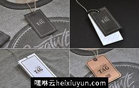 衣服标签贴图展示样机模版 Clothes Tag PSD Mockups