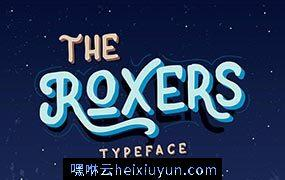 The Roxers Typeface 复古设计英文字体