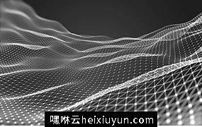 三维抽象线框数字山脉背景 未来科技大数据技术概念 Abstract wireframe background