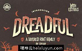 个性设计字体 Dreadful Layered Font #863567