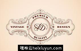 木刻样式的经典的logo设计模板 Vintage Logo Design #73102