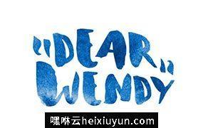 水彩手绘字体 Wendy  Font #189999