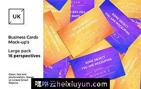 企业名片展示样机 Business Cards presentations pack