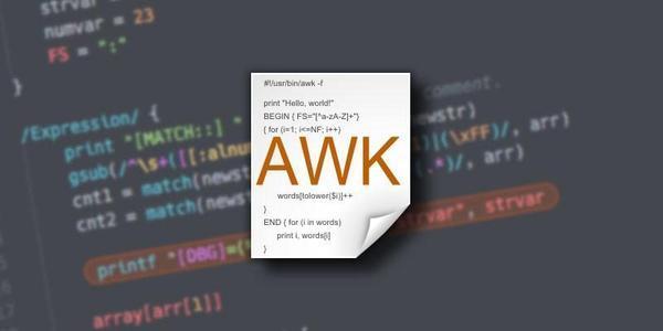 Linux使用 awk 过滤文本或文件中字符串