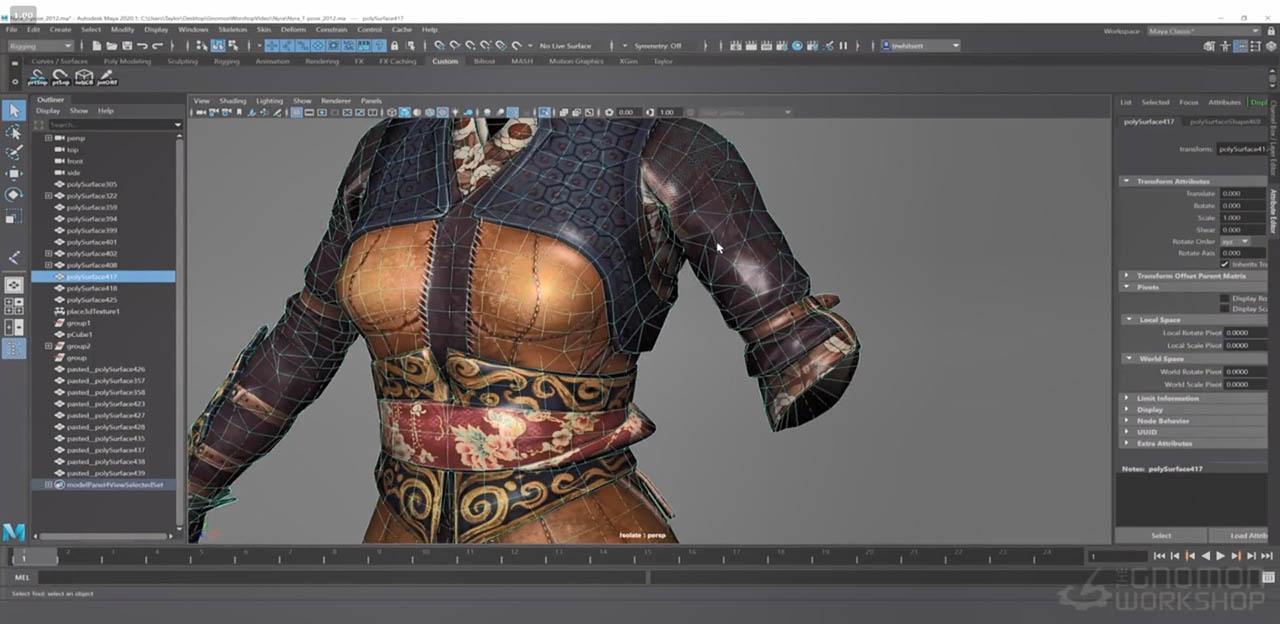 Character Rigging in Maya for Game Production – Maya三维游戏人物绑定教程