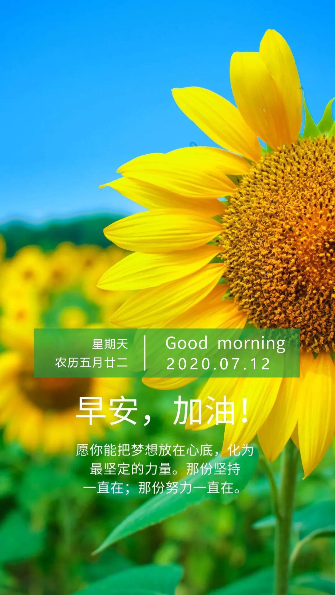 周末正能量早安图片日签说说:把梦想放在心底,化为最坚定的力量
