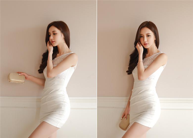 孙允珠:霜叶玉露雕花水仙古典包臀裙
