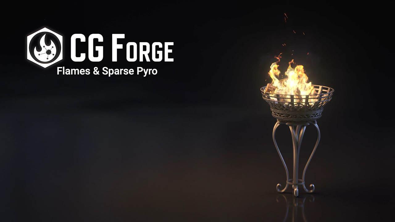 Houdini火焰特效教程 Cgforge Pyro 2 Flames & Sparse Pyro