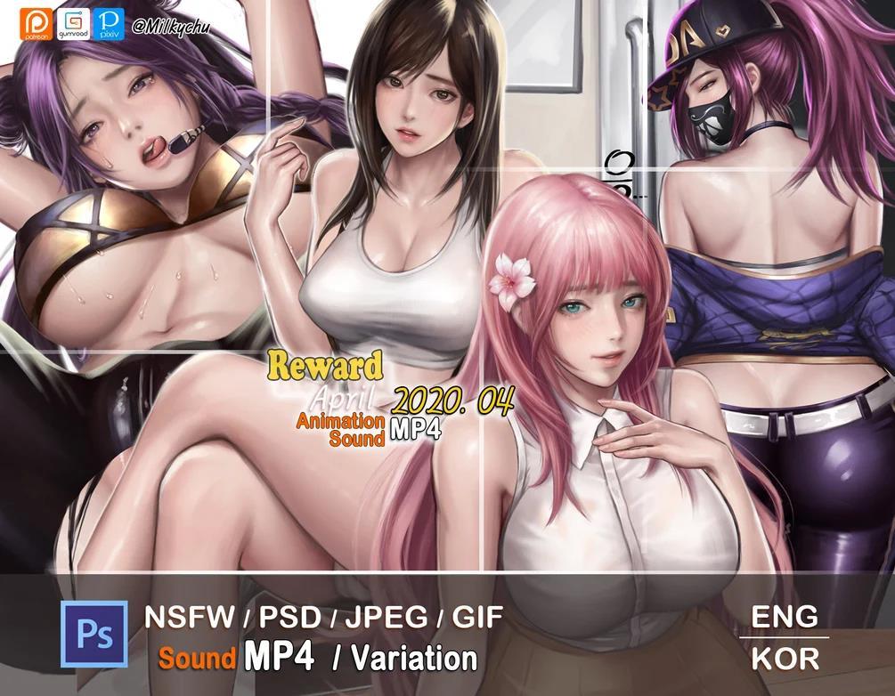 韩国milkychu画师M2020年4月插画作品欣赏