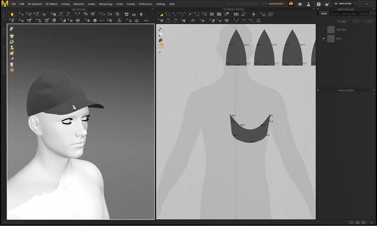 Marvelous Designer Hats - 3D Fashion Design Course 三维帽子建模教程
