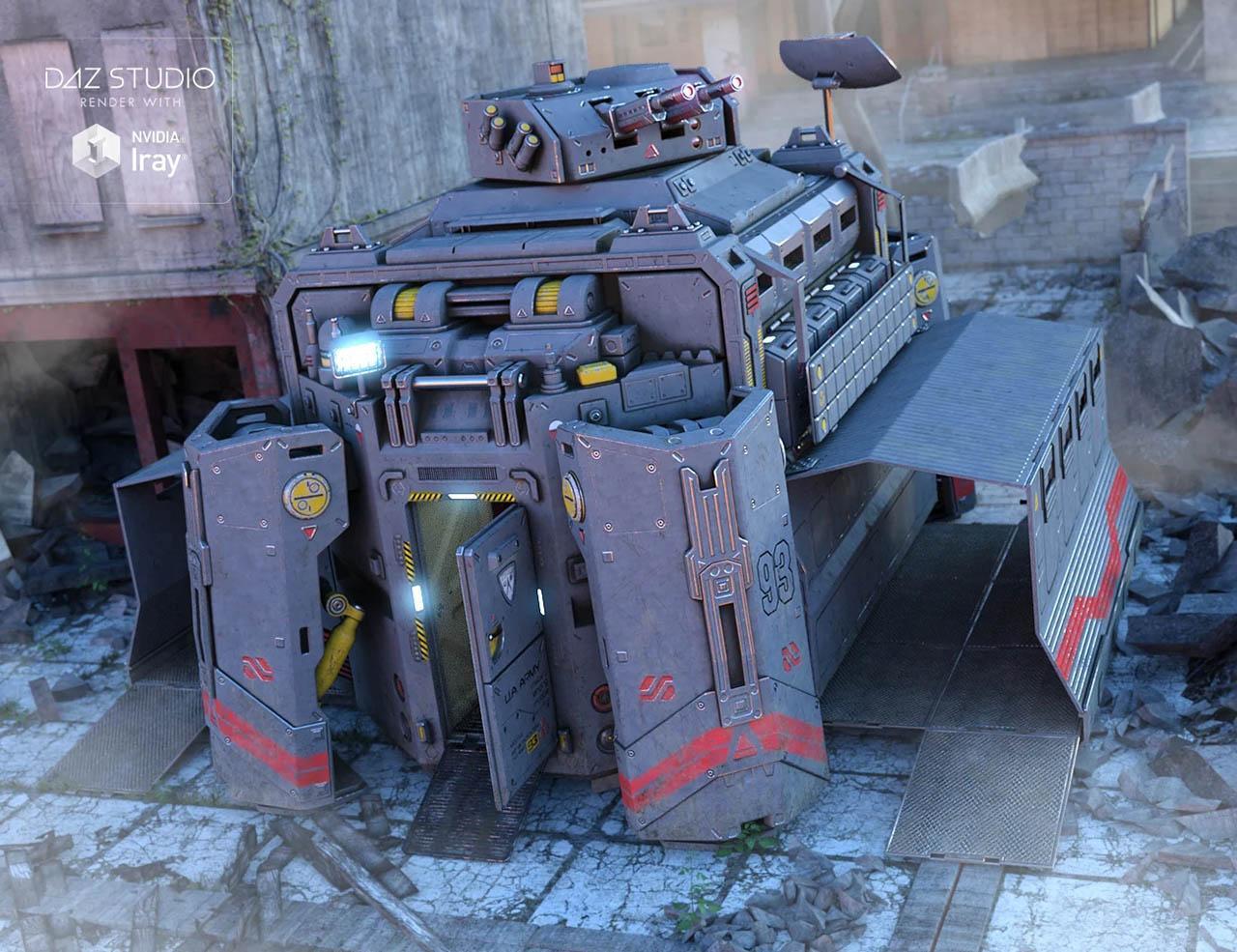 科幻军事登陆舱模型下载 Military Module