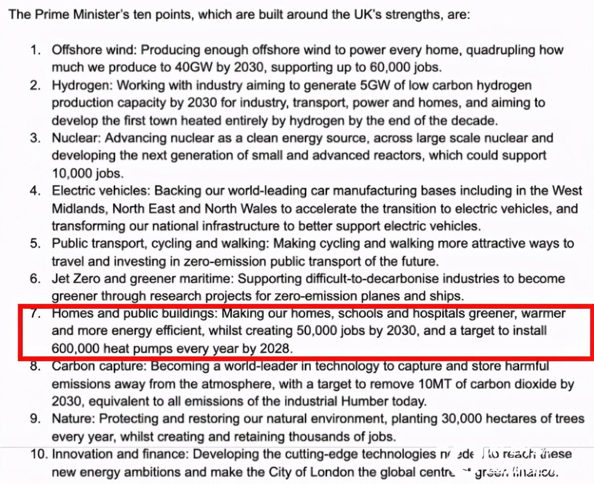 英国:2028年达成年安装空气源热泵60万台套目标