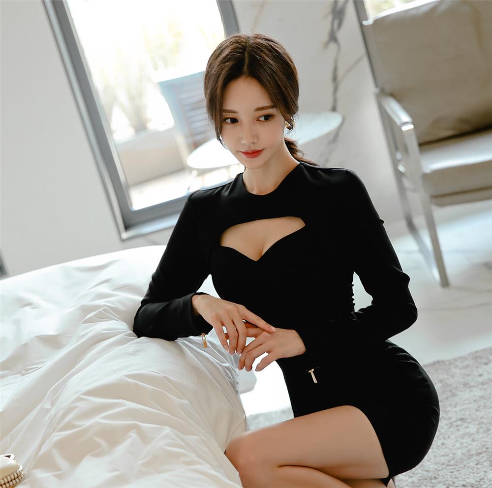 孙允珠蝙蝠魅影黑牌威士忌镂空礼裙写真 美女写真 热图2