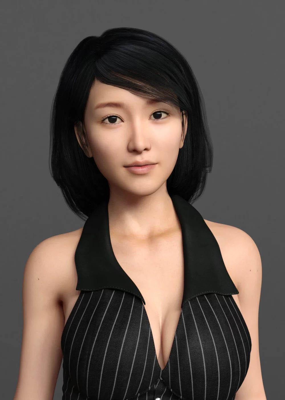 亚洲女性角色模型Poser DAZ Studio